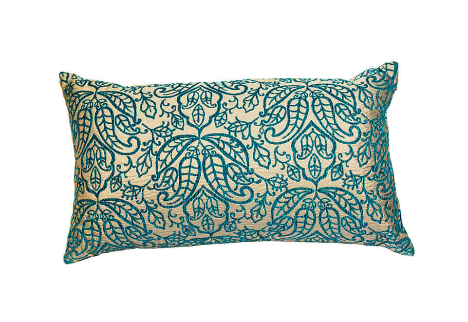 Blue & White Floral Pillow