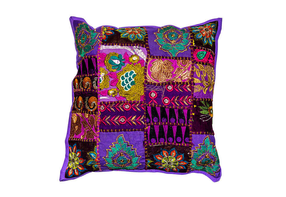 Purple Quilted Pillow