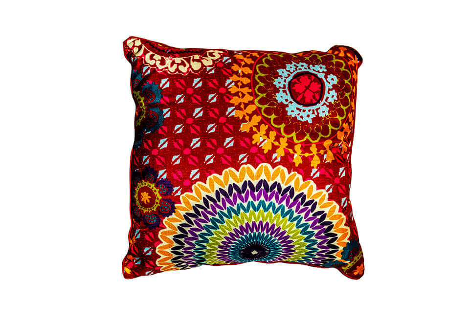 Multicolored Patterned Pillow
