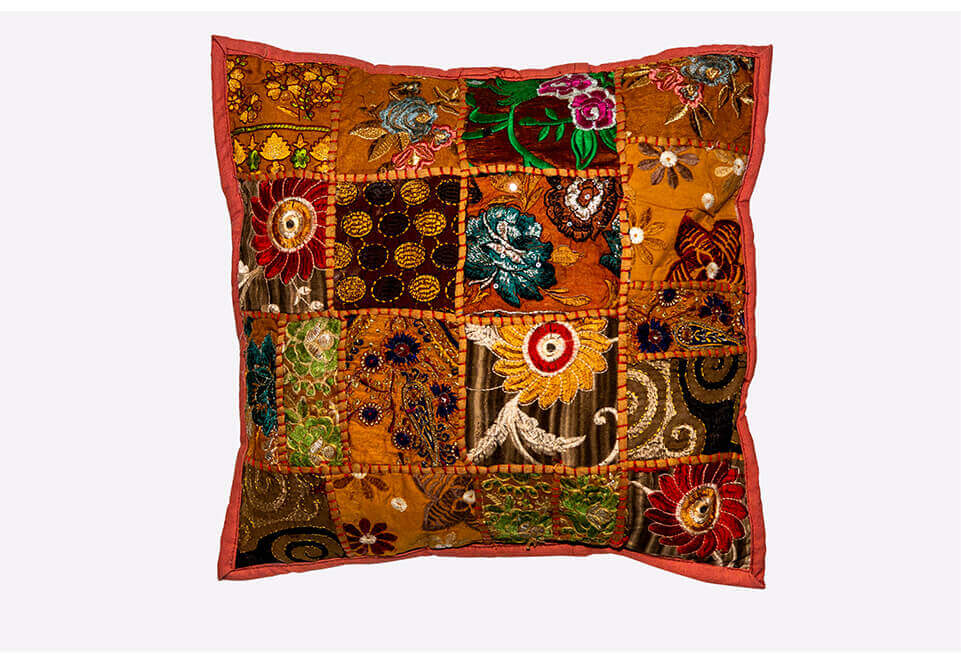 Orange Quilted Pillow