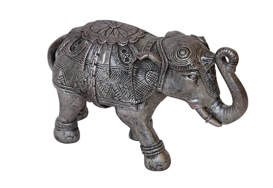 Silver Colored Metal Elephant