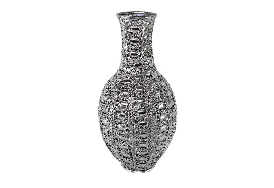 Silver Colored Vase