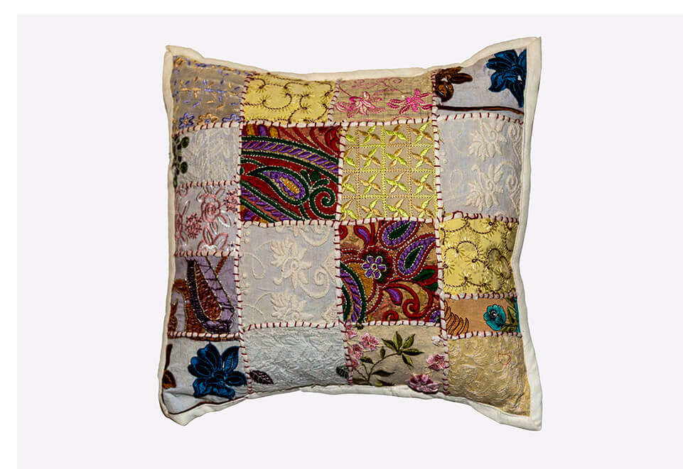 Tan Quilted Pillow
