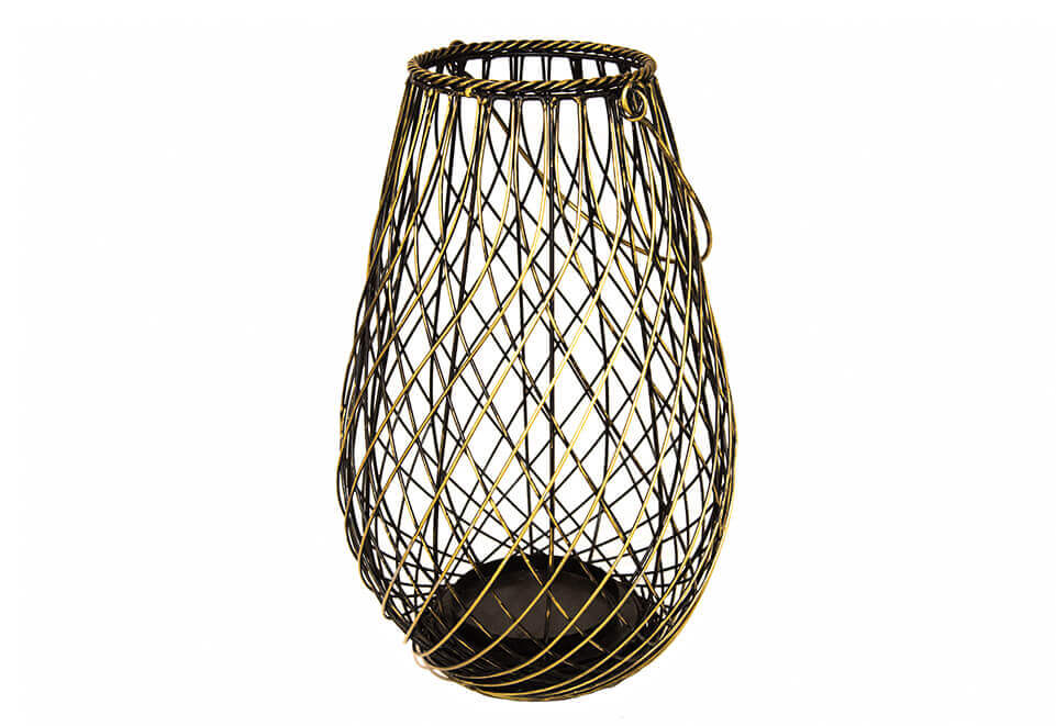 Woven Brass Candle Holder